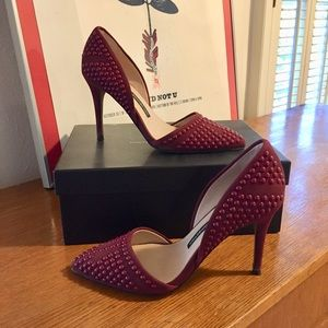 ⚡️French Connection Ellis burgundy d'orsay heels